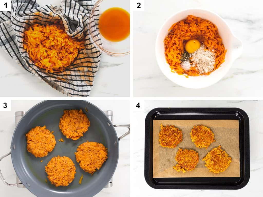 Method for making sweet potato rösti