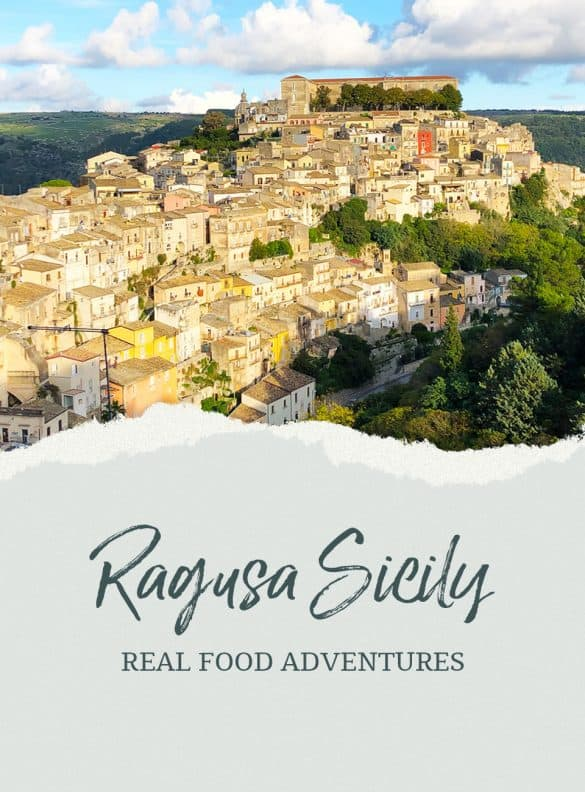 View of Ragusa image with graphic that reads Ragusa Sicily