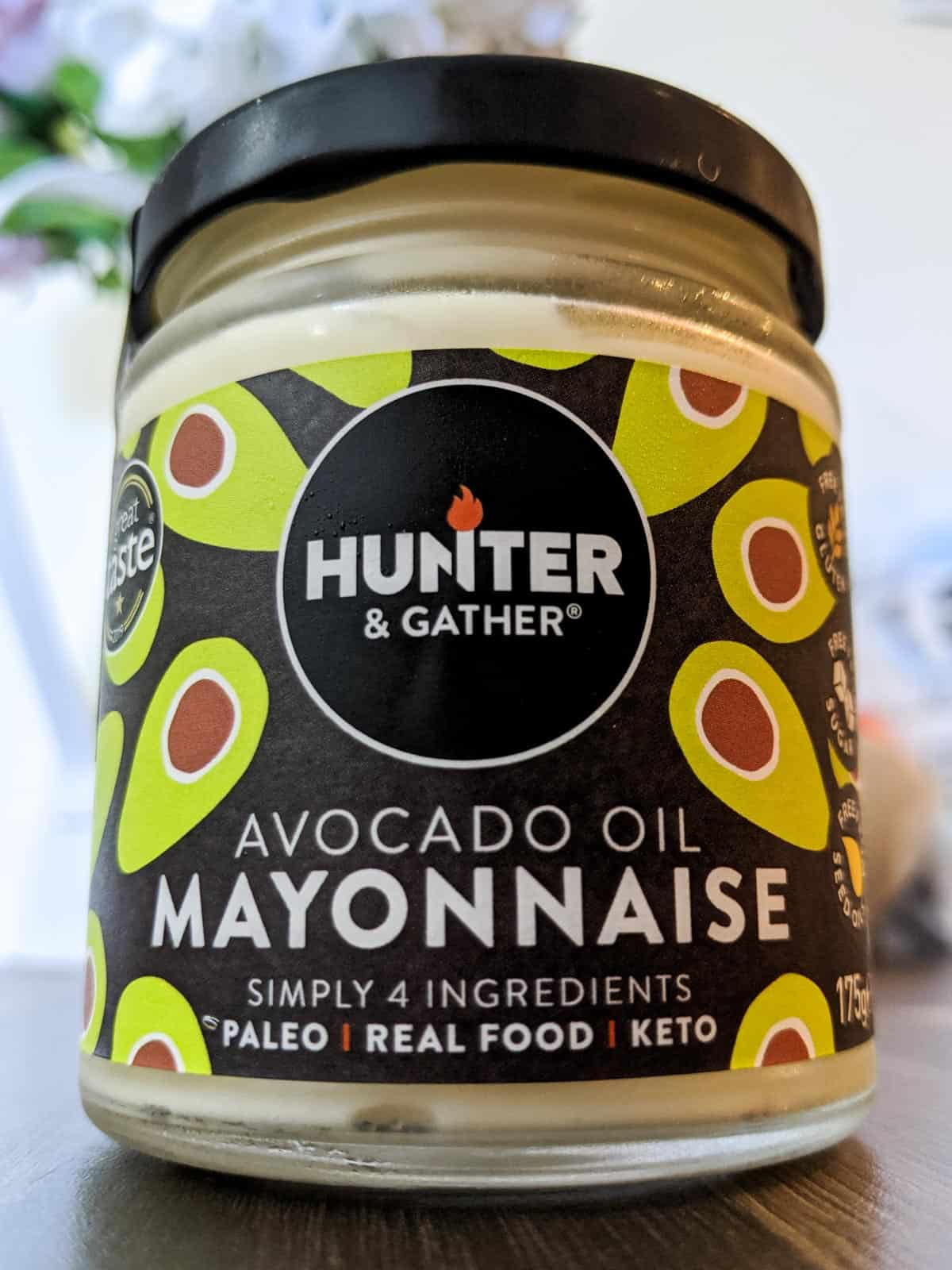 Jar of Hunter and Gather Avocado Oil Mayonnaise