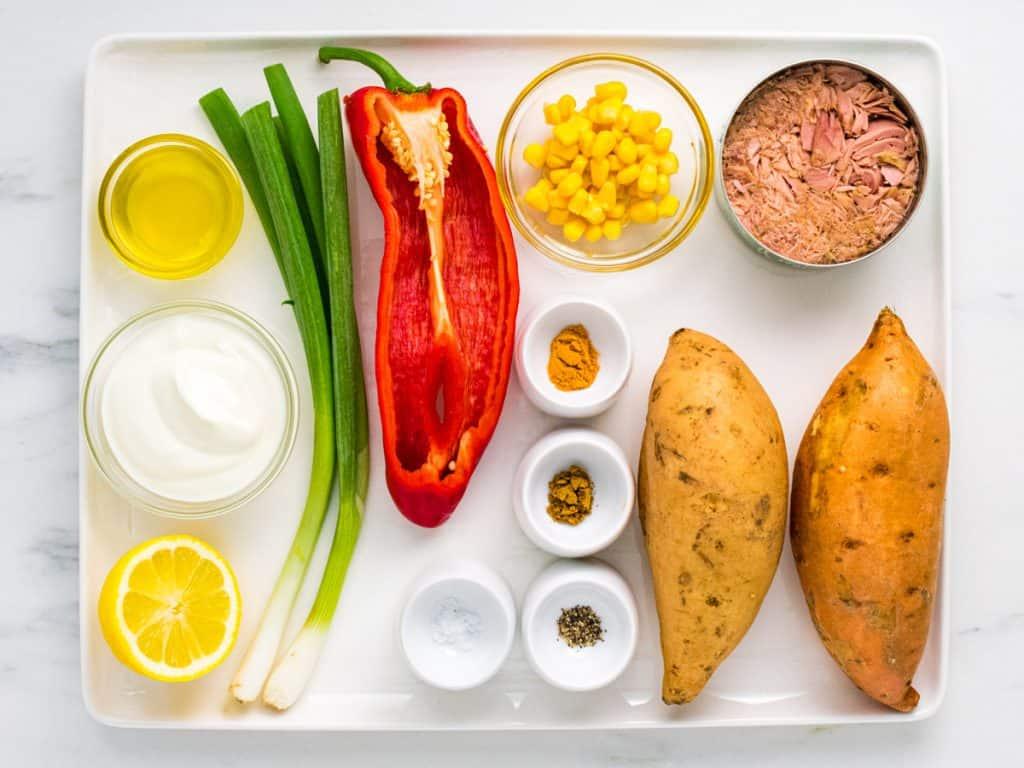 Sweet potato jackets ingredients