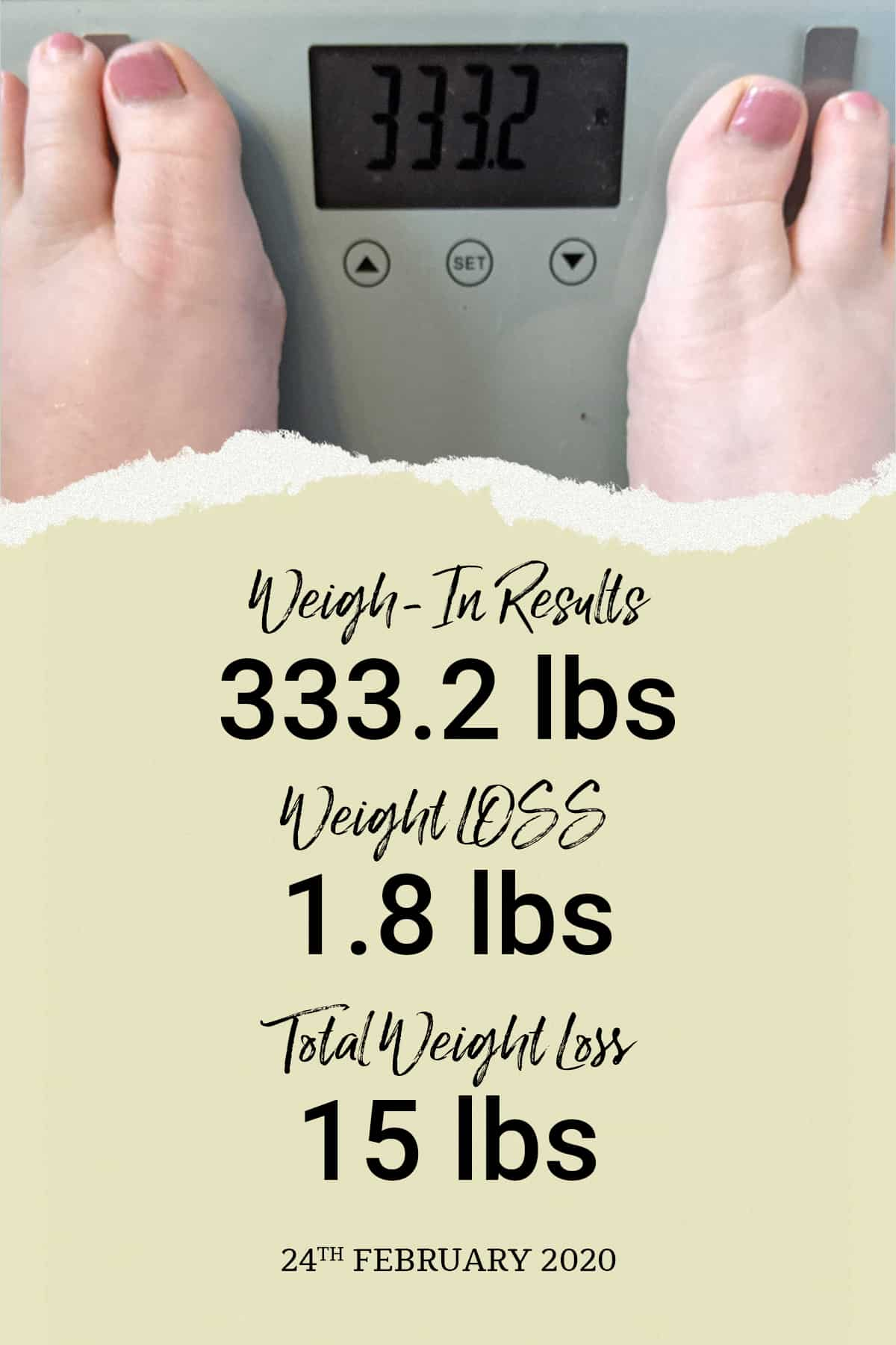 week seven weigh-in results