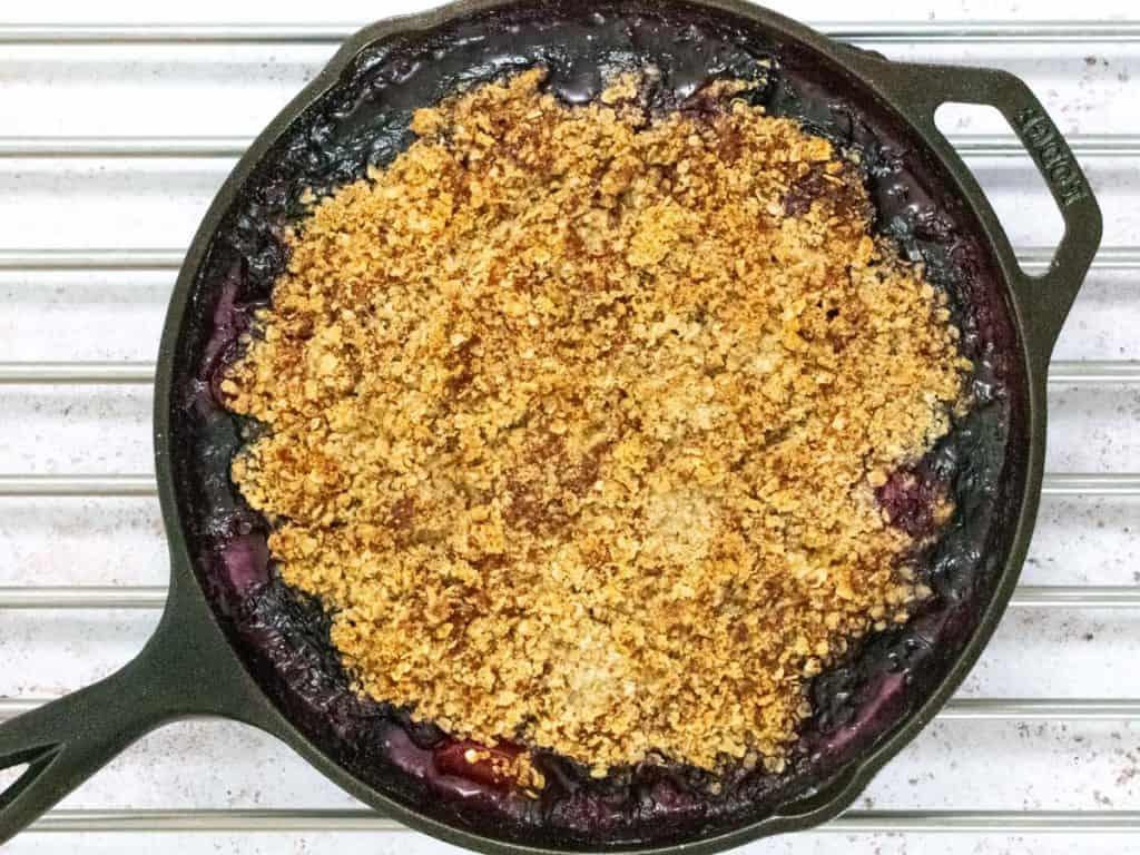 Baked Plum Berry Crisp