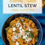 Two bowls of Butternut Squash Lentil Stew